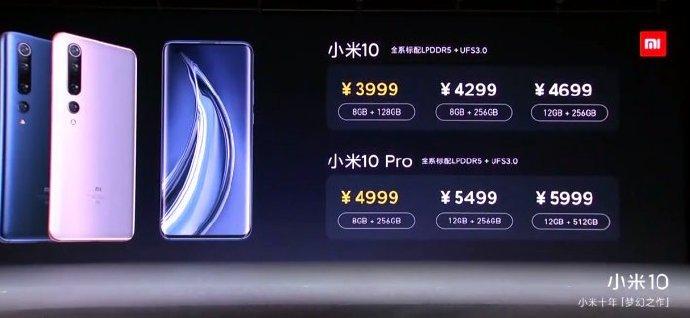 Mi 10 цены
